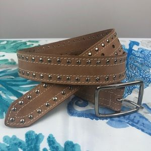 Accessories - Soft Leather Studded Belt - M
